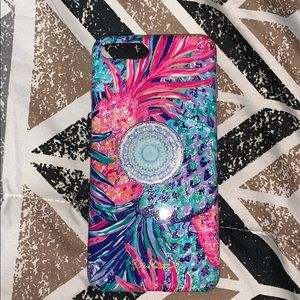 Lily Pulitzer phone case with pop socket